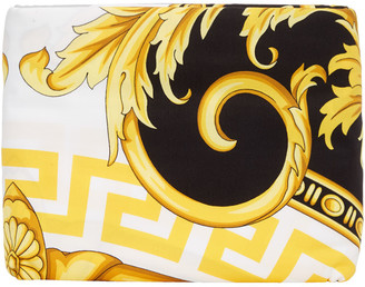 Versace White and Black Medusa Queen-Sized Duvet Cover