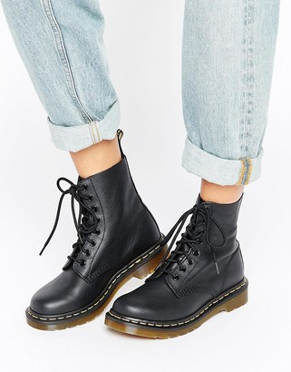 Dr. Martens Pascal 8 Eye Boots-Black