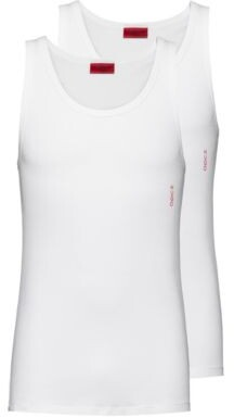 HUGO Two-pack of slim-fit vests with logo detail