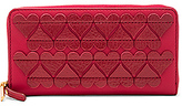Marc Jacobs Stitched Heats Standard Continental Wallet in Red.