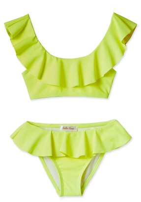Stella Cove Neon Ruffle Two-Piece Swimsuit