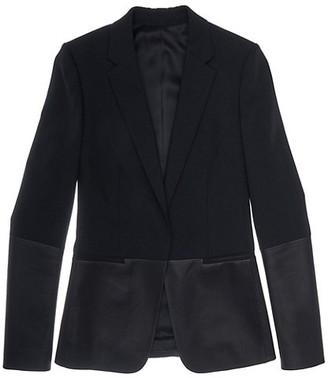 Helmut Lang Leather Combo Blazer