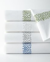 AERIN Queen 500TC Embroidered Scroll Flat Sheet