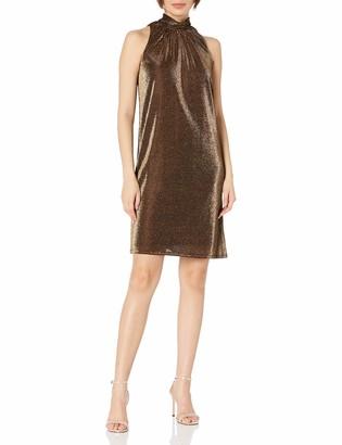 Halston Women's Flowy Metallic Dress