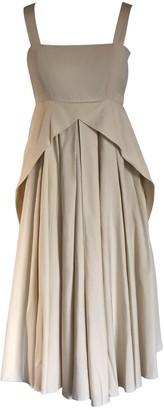 Onelady Cotton Midi Dress Beige Delia