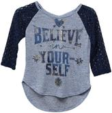 "Knitworks Knit Works Girls' Shirt With Lace Sleeves And ""My Dream"" Graphic 2 Piece Set"