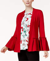 Alfani Petite Ruffled Open-Front Cardigan, Created for Macy's
