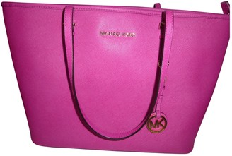 Michael Kors Jet Set Purple Leather Handbags