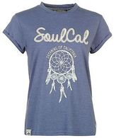 Soul Cal SoulCal Womens Fashion Logo T Shirt Tee Top Print Short Sleeve Round Neck
