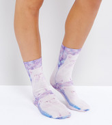 Monki Laser Cat Ankle Socks