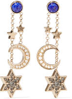 Etro Enameled Gold-tone Crystal Earrings - Brass