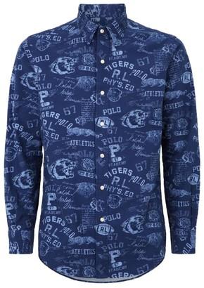 Ralph Lauren Custom Fit Varsity Print Shirt