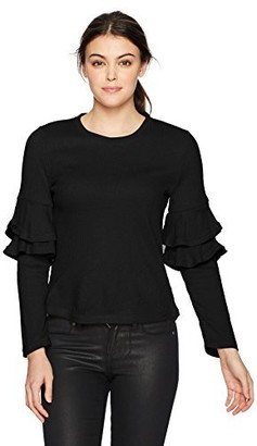 Lucca Couture Women's Kennedy Dbl Ruffle Sleeve Sweater