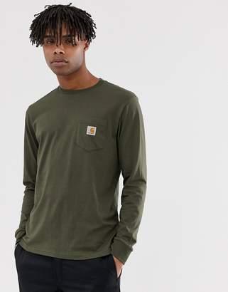 Carhartt Wip WIP long sleeve Pocket t-shirt in cypress green