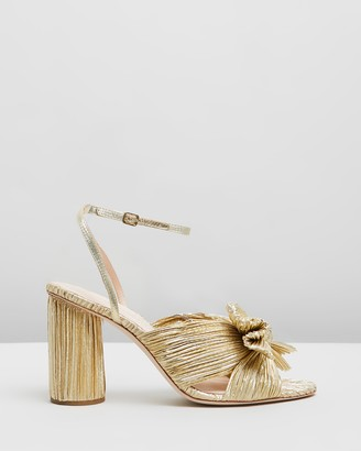 Loeffler Randall Camellia Knot Mules with Ankle Strap