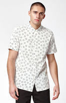 RVCA Ring White Short Sleeve Button Up Shirt