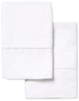 Melange Home Belgian Linen Ladder Stitch Pillowcases (Set of 2)