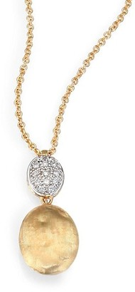 Marco Bicego Siviglia Diamond & 18K Yellow Gold Drop Pendant Necklace