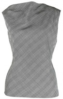 Gianni Versace Grey Silk Top for Women Vintage