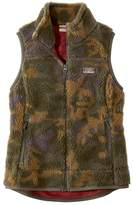 L.L. Bean L.L.Bean Women's Mountain Pile Fleece Vest, Camouflage