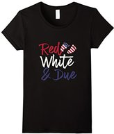 Womens Womens Red White And Due Flag 4th of July Maternity T-Shirt