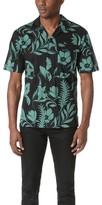 Ami Flower Print Short Sleeve Shirt