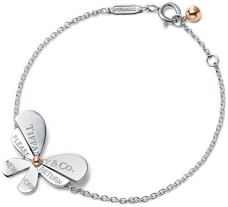 Tiffany & Co. Return to TiffanyTM Love Bugs butterfly chain bracelet in silver and rose gold