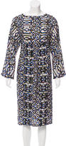 Dries Van Noten Crystal Embellished Silk Dress