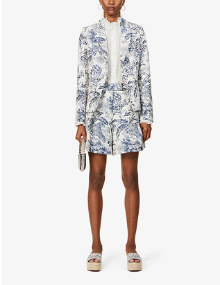 Erdem Iris floral-print cotton-blend jacket