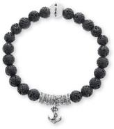 Steve Madden Men's Anchor Charm Bracelet
