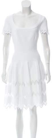 Alaia Scoop Neck Knee-Length Dress