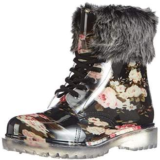 Chuva Women's HIND GEV. DAMESLAARS PVC Warm Lined Snow Boots Half Length Black Size: 4