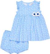 Florence Eiseman Polka-Dot Ruffle Top w/ Bloomers, Size 3-24 Months
