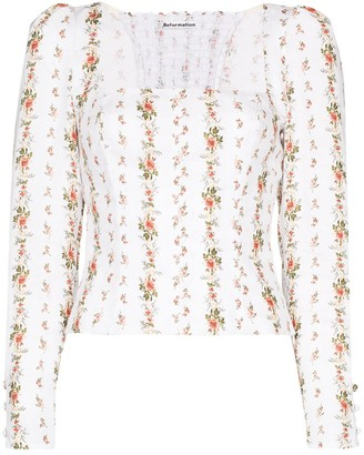Reformation Fillmore floral print blouse