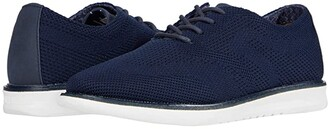 Ben Sherman Nu Flyknit Casual Wingtip (Dark Grey Fly Knit) Men's Lace Up Wing Tip Shoes