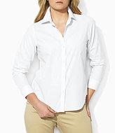Lauren Ralph Lauren Plus Cotton Poplin Dress Shirt