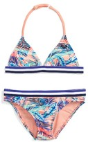 Roxy Girl's Retro Summer Two-Piece Swimsuit