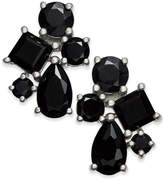 Macy's Black Sapphire Cluster Stud Earrings (5-1/2 ct. t.w.) in Sterling Silver
