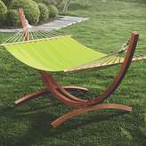 Beachcrest Home Grissom Free-Standing Cotton Patio Hammock with Stand