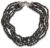 Carolee Gotham Hematite-Tone Beaded Multi-Row Necklace