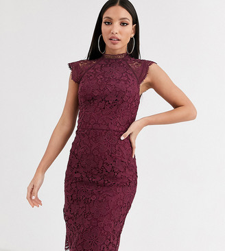Chi Chi London Tall mini dress in magenta