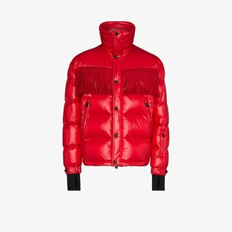 MONCLER GENIUS 3 Moncler Grenoble padded fringed jacket