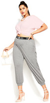 City Chic Street Cred Pant - grey