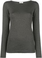 Brunello Cucinelli plain sweatshirt - women - Silk/Polyamide/Polyester/Cashmere - M
