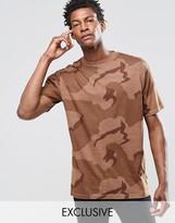 Reclaimed Vintage Oversized Camo T-shirt In Overdye
