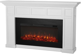 """Pottery Barn Real Flame 74.75"""" Alcott Grand Electric Fireplace"""