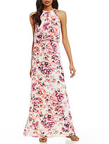 Alex Marie Hannah Hatler Neck Sleeveless Floral Print Dress