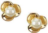 Anne Klein Faux-Pearl Blossom Stud Earrings