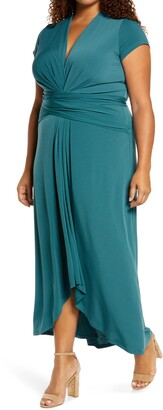 MICHAEL Michael Kors Cap Sleeve High/Low Dress