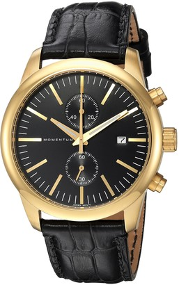 Momentum Men's Chronograph Collection Japanese-Quartz Watch with Leather Strap